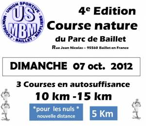 Course Nature du Parc de Baillet